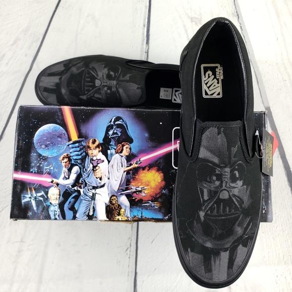 61e446d5679dbe NEW Star Wars Darth Vader Van s Slip On shoes